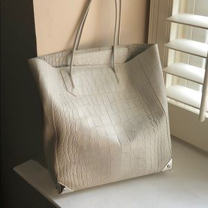 Alexander Wang Prisma tote in croc white/chalk